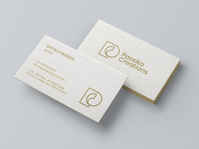 Business Card Design - Passika Creations contemporary art agency studio brand identity identity design brand guidelines museum artist art gallery corporate identity stationery brand strategy brand brand collateral business card vector symbol icon mark brand style guide typography branding logo design
