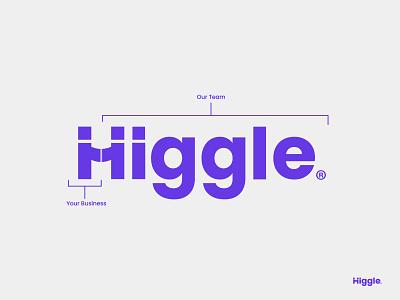 Higgle - Handshake Logo Design brand identity h i g l e lettering loog loho lofo wordmark h letter logo logo concept logo grid brand style guide logo designer grid typography branding logotype grid logo modern logo logo design logo