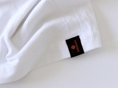 Sri Sahasra Logo on T-shirt texture textile brand guidelines brand identity print ad printing embroidery ppt presentation showcase vector symbol icon mark cloth clothing fabric tshirt t-shirt logotype typography branding logo designer minimalist modern logo logo design logo