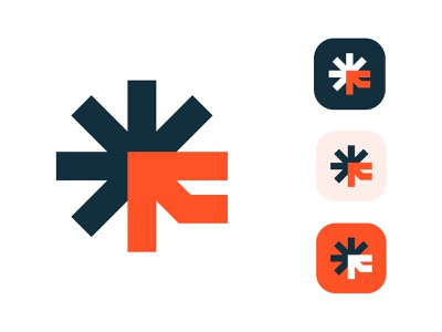 App icon for Fugit f u g i t arrow arrows arrowhead arrow art asterisk developer designer app icon designers app designer app icon f letter f fugit branding grid logo minimalist logo designer modern logo logo design logo
