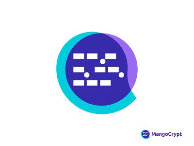 MangoCrypt logo 🥭 exotic fruit symbol icon vector mark startup blog design bitcoin crypto trading logo maker fruit logo codepen techno technical coding logo code morse code mango tech technology fintech minimalist modern logo logo designer logo design logo