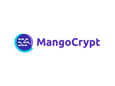 MangoCrypt - Logo design typography branding logo trends 2021 code tech fintech startup morse code fruit mango ubuntu wordmark vector symbol icon mark logotype logo designer modern logo logo design logo