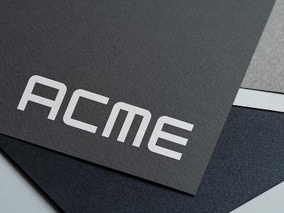 Wordmark logo - ACME® letterpress digital print media acme logo identity designer brandmark vector symbol icon mark handmade lettering minimalist lettermark monogram wordmark logotype font design type designer custom type type design branding grid logo logo designer modern logo logo design logo