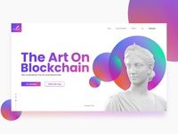 Art On Block - ICO website design concept