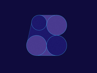 b logo grid