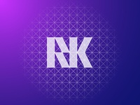 RK Logo design Grid