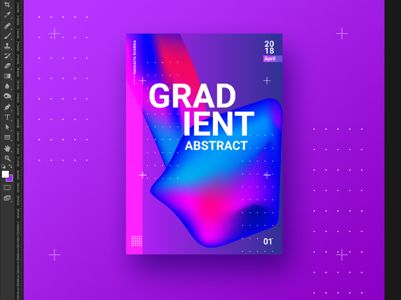 Abstract gradient poster design web post poster illustration 3d art 3d colorfull style baugasm landing page colorscheme colors gradient logo photoshop grid typography minimalist