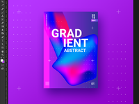 Abstract gradient poster design