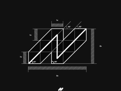 N Logo Grid Construction