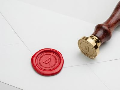 Av Logo on wax stamp