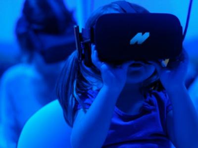 N on VR logo design concept