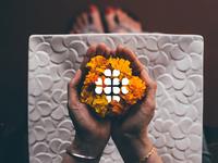 Sri Sahasra flowers logo design