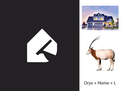 Life property developers logo concept - L Oryx Home logo