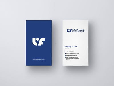 Business Card Design for Life property developers
