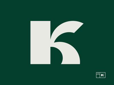 Letter K  - Custom typography logo design