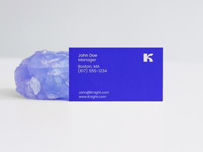 business card design - K letter mark