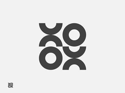 XOXO Logo- Circle logo mark x y z circle logo lgoo loog logo designs design x logo xoxo xo logo brand style guide logos grid typography modern logo logo designer grid logo minimalist logo