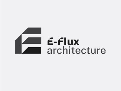 Architecture logo with E-Flux Logotype