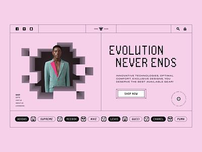 Clothing Shop // Website Concept ux ui design website e-commerce web design web geometry brutalism minimalism