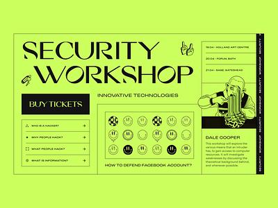 Security Workshop // Website Concept clean minimal minimalism brutalism geometry web web design cybersecurity security workshop website design ui ux