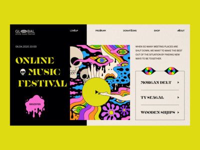 Online Music Festival // Website Concept