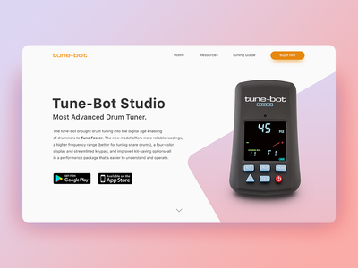 Landing Page (above the fold) [Daily UI #003]