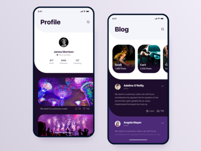 Neon Style Blog  // Mobile App