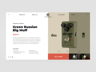 Green Russian Big Muff // Product Page