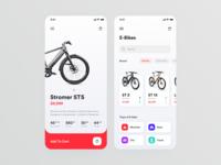 E-Bike Store // Mobile App Concept
