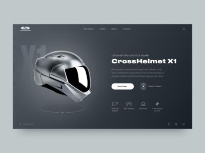 Smart Motorcycle Helmet // Promo Website Concept