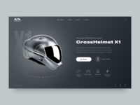 Smart Motorcycle Helmet // Promo Website Concept
