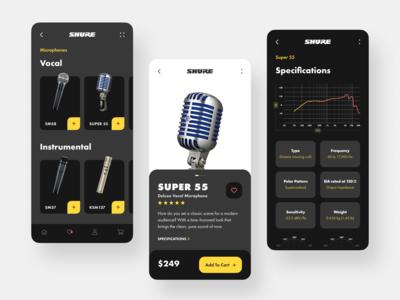 Shure Store // Mobile App Concept