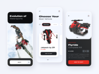 Hydro-Flyers Shop // Mobile App Concept