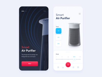 Smart Air Purifier // Mobile App Concept