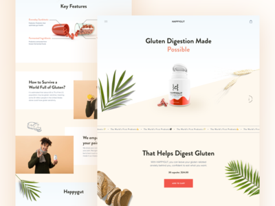 Probiotic Supplement // Landing Page
