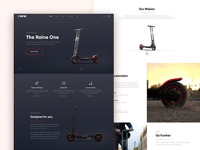 Electric Scooter // Landing Page website web design webdesign web vector ux uiux ui design uidesign ui product design minimal landing page landing flat design clean color