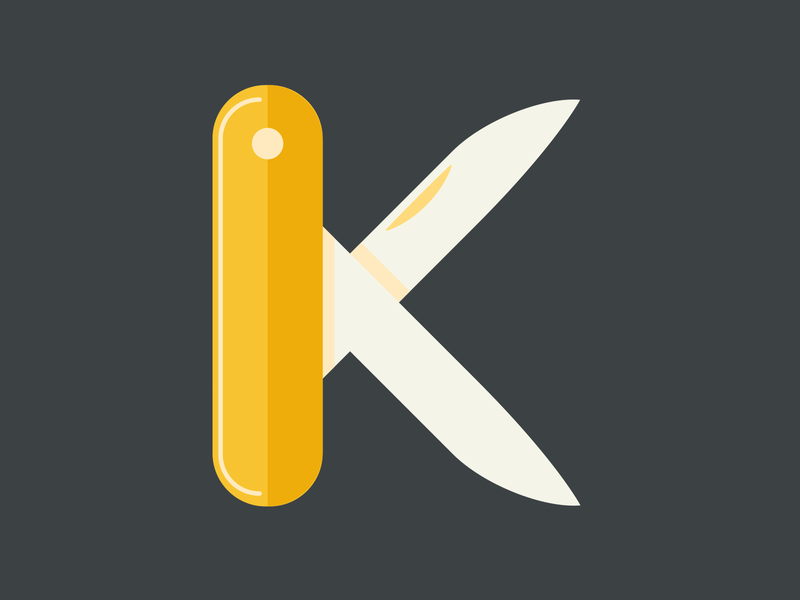 36 Days of Type - Letter K swiss knife adobe after effects k letter knife icon flag logo flag design flat  design typography type letterign challenge lettering art lettering flat vector minimal adobe illustrator adobe 36 days of type 36 days