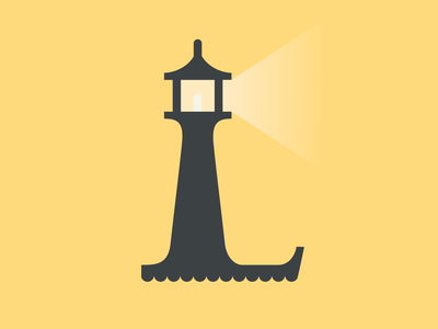 36 Days of Type - Letter L lighthouse icon logo flat  design typography type lettering challenge lettering art lettering vector flat minimal illustration illustrator 36 days of type 36 days