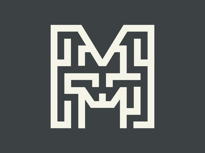 36 Days of Type - Letter M lettering challenge maze icon logo flat  design typography type lettering art lettering single colour 1 colour vector flat minimal illustration illustrator cc 36 days of type 36 days