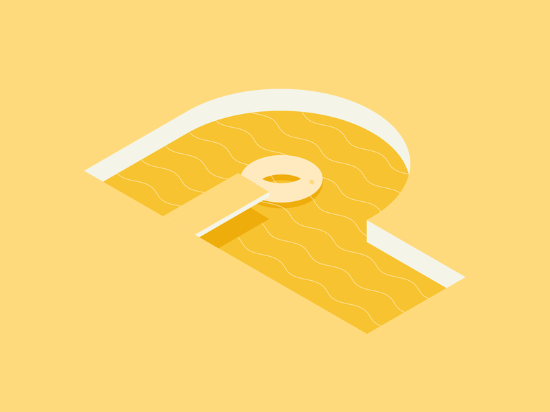 36 Days of Type - Letter P swimming pool design flat design typo logo icon typogaphy type lettering challenge lettering art lettering vector flat minimal illustration illustrator 36 days of type 36 days