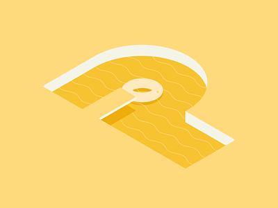 36 Days of Type - Letter P swimming pool design flat design typo logo icon typogaphy type lettering challenge lettering art lettering vector flat minimal illustration illustrator 36 days of type 36 days
