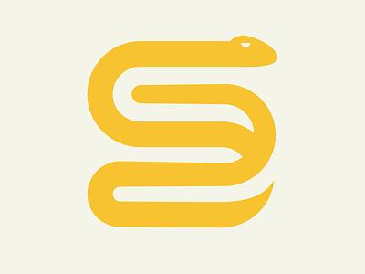 36 Days of Type - Letter S icon logo snake design typography 36 days of type lettering lettering challenge lettering art lettering vector flat single colour minimal illustration illustrator 36 days of type 36 days