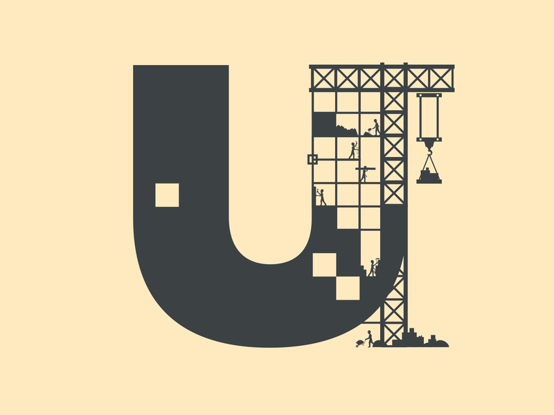 36 Days of Type - Letter U logo icon design type typography lettering challenge lettering art 36 days of type lettering vector flat single colour minimal illustration illustrator 36 days of type 36 days