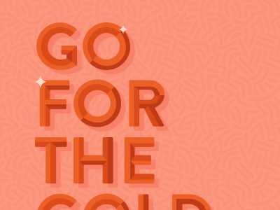 go for the gold gold type color illustration