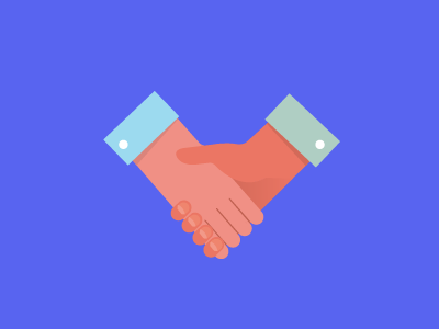 Shake shake hands illustration agreement deal