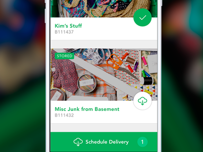 Your closet in the cloud storage product design mobile ui ios landing page