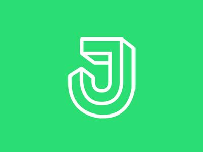 J j type logo lettermark branding