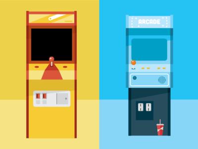 Arcade vector flat video games arcade illustration