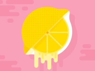 Lemon flat vector drip illustration lemon
