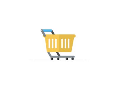 Cart geometric vector flat icon illustration cart